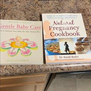 Pregnancy books (1 cookbook 1 natural book)